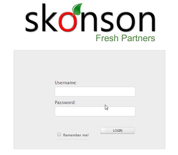 Skonson Fresh Partners Webshop